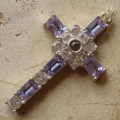 Sterling Silver Alexandrite Grace Cross Pendant