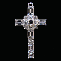 Diamond Clear Crystal Stanhope Grace Cross