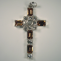 Smoke Topaz Octavie Cross pendant